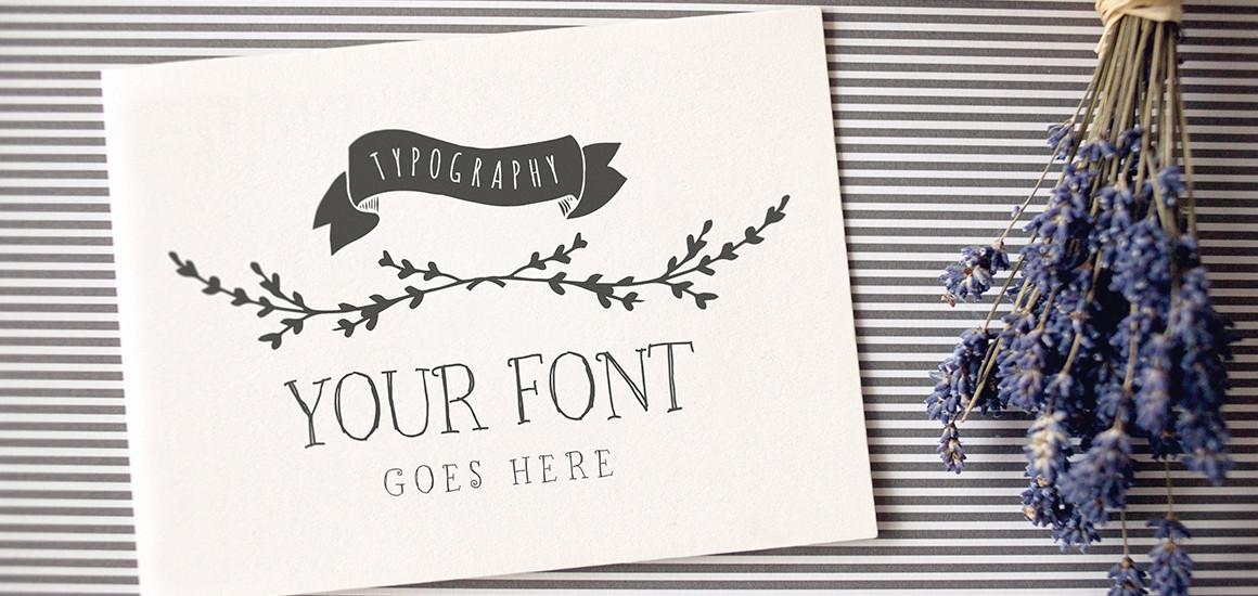 Typography – Logo – Invitation mockup
