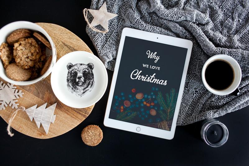 Black style Christmas mockups