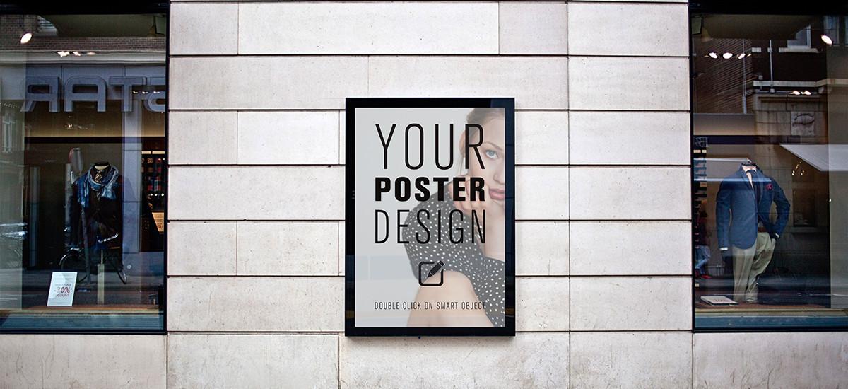 POSTER design – 6 photo mockups