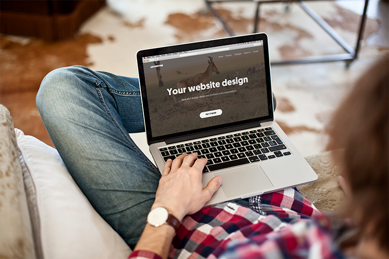 MacBook Pro in rustic environment – 9 photo mockups