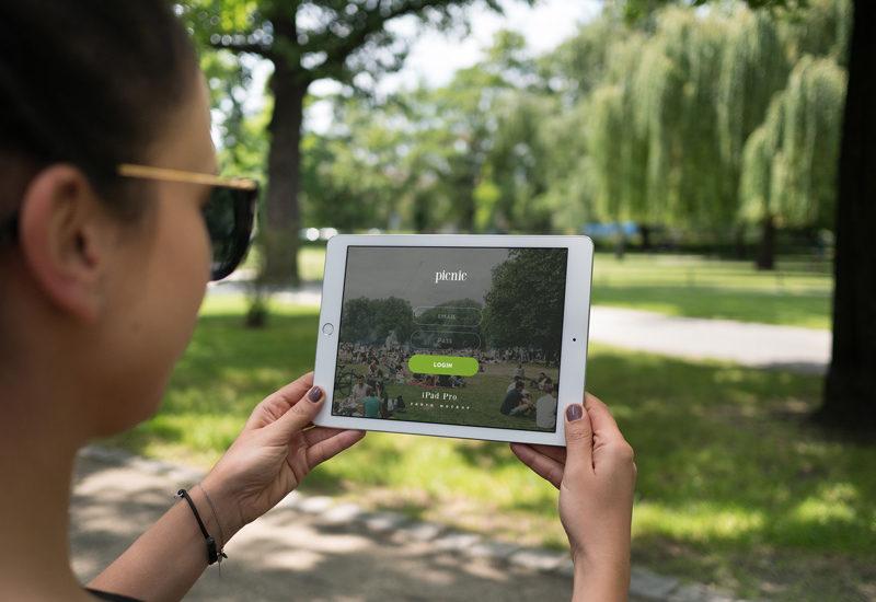 iPad Pro at the park – 8 photo mockups