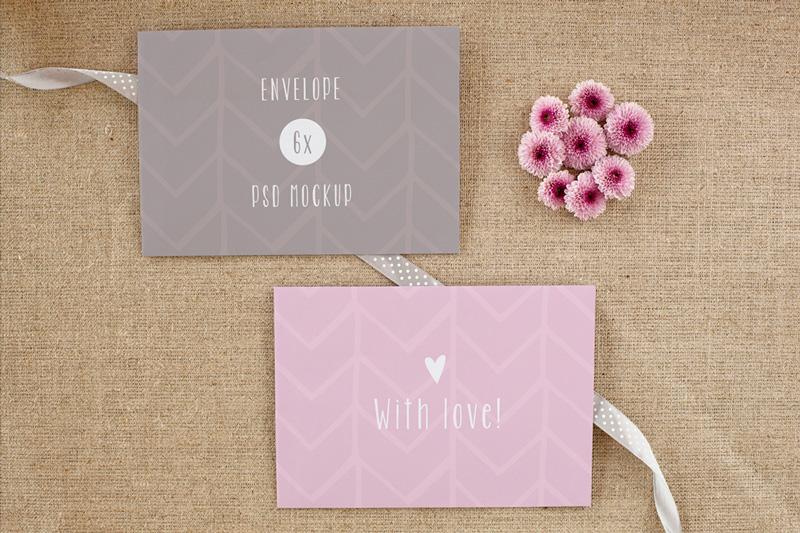 Envelope / card vol. 2 – 6 photo mockups