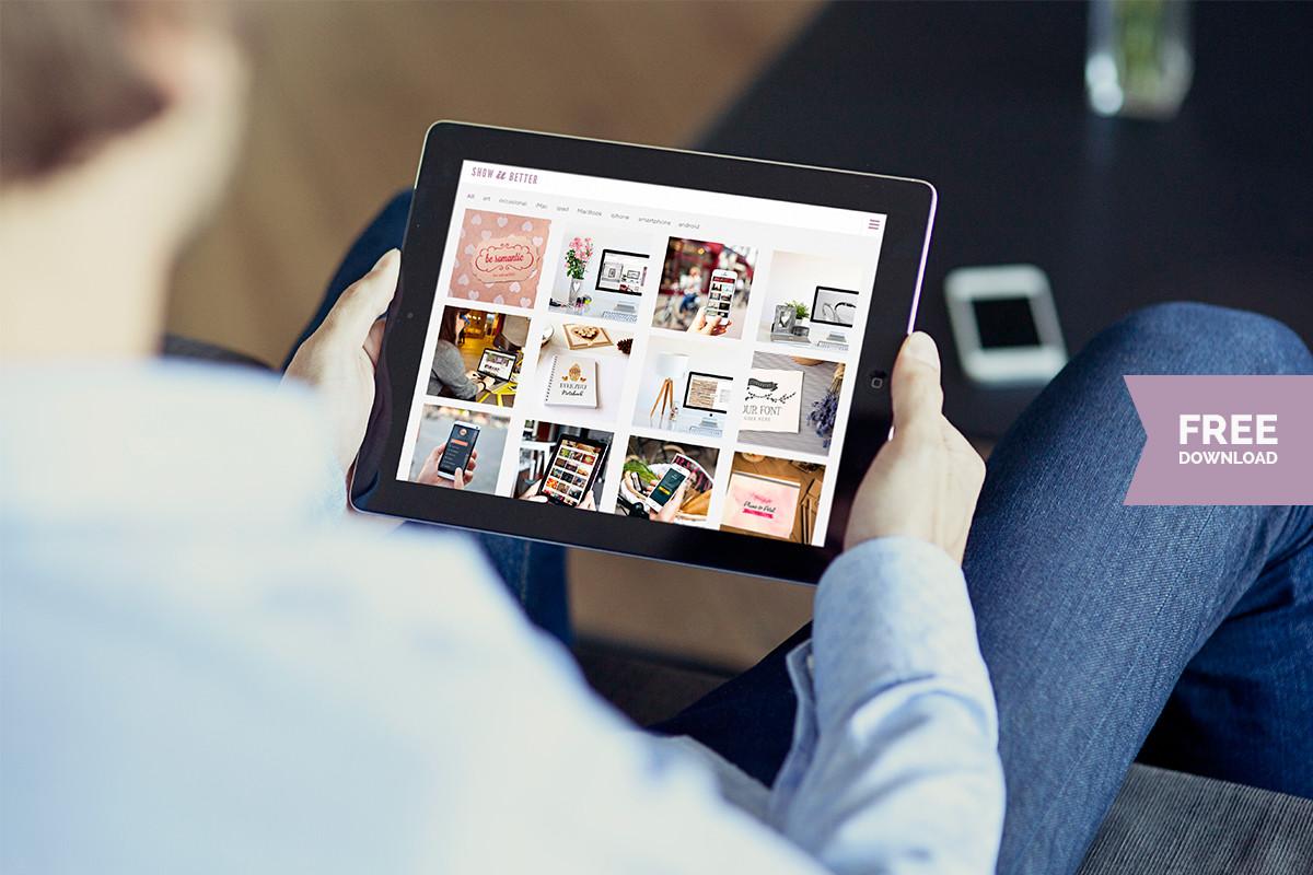 Free iPad photo mockup