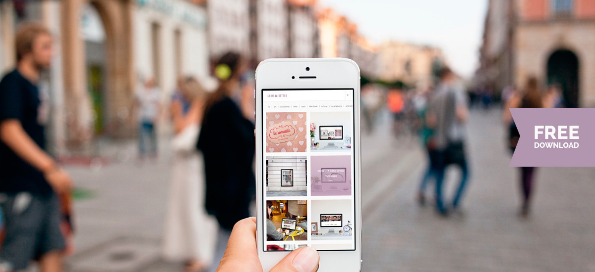 Free iphone 5 photo mockup
