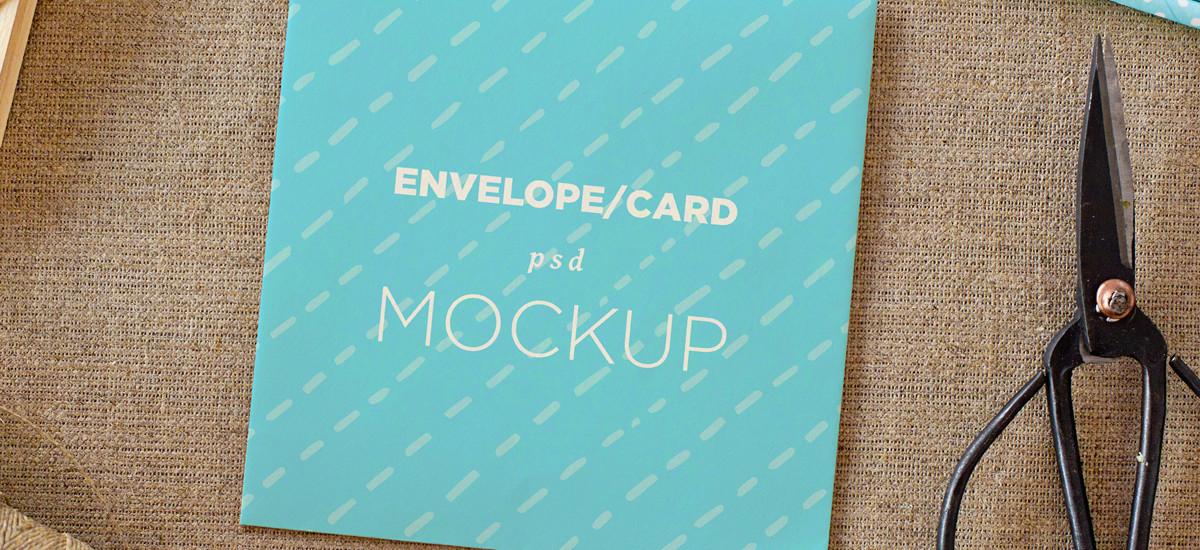 Envelope / card vol. 1 – 4 photo mockups